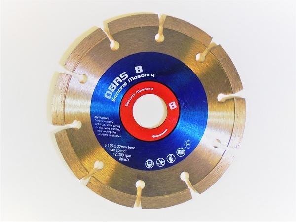 125 x 22mm Diamond blade